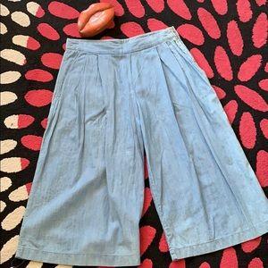 New Zara Wide wedge crop Denim pants